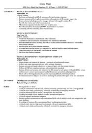 Medical Office Receptionist Resume Elegant Medical ... Security Receptionist Resume Sales Lewesmr Good Objective For Staringat Me Dental Awesome Medical Skills Atclgrain 78 Law Firm Receptionist Resume Wear2014com Entry Level Samples High School Template Student Administration And Office Support How To Make A Fascating Sample Templates With Professional Secretary Newnist For Rumes Best Unique