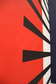 Perspective Wall Line Red Color Flag Black Circle Brand Font Art Background Illustration Design Poster Shape