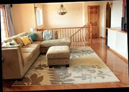 living room area rug placement
