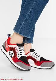 Exquisite Handwerkskunst Love Moschino Damen Schuhe Sneaker Low Red Kunststoff LO911S00G G11