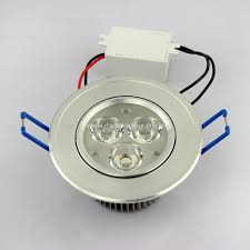 promotional 3 led high power ceiling light recessed l