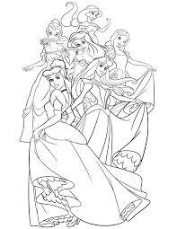Disney Princess Coloring Book Pages