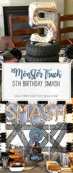 99 Monster Truck Party Favors Birthday Smash Halfpint Design