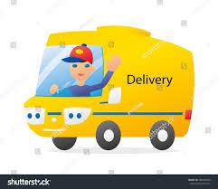 Delivery Truck Funny Driver Isolated Stock Photo (Photo, Vector ...