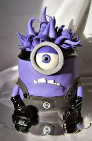 purple evil minion birthday cake