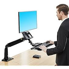 Monitor Stands For Desks Nz by Amazon Com North Bayou Sit Stand Desk Height Adjustable Standing