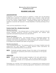 Dietary Aide Description Thevillas Co Rh Manager Resume Objective For