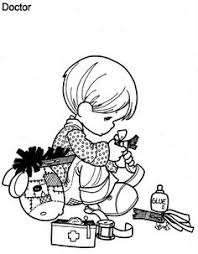 Doctor Precious Moments Coloring Pages