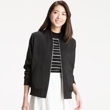 women soft bomber jacket uniqlo