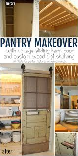 Sliding Barn Door Pantry Makeover With Wood Slat Shelves ... Epbot Make Your Own Sliding Barn Door For Cheap Bypass Doors How To Closet Into Faux 20 Diy Tutorials Diy Hdware Build A Door Track Hdware How To Design The Life You Want Live Tips Tricks Great Classic Home Using Skateboard Wheels 7 Steps With Decor Ipirations Best 25 Doors Ideas On Pinterest Barn Remodelaholic 35 Rolling Ideas Exterior Kit John Robinson House