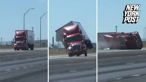 100 Semi Truck Pictures Truck Blown Over By Bomb Cyclone Winds
