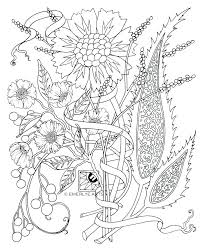 Free Printable Flower Coloring Pages For Adults Flowers Animal Mandala