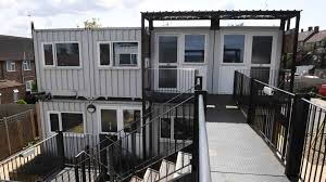 100 Converted Containers Families With Children Are Now Being Housed In Shipping Containers
