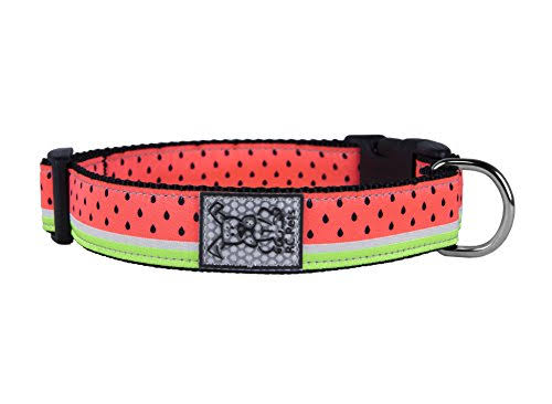 Watermelon Adjustable Clip Dog Collar by RC Pet - X-Small