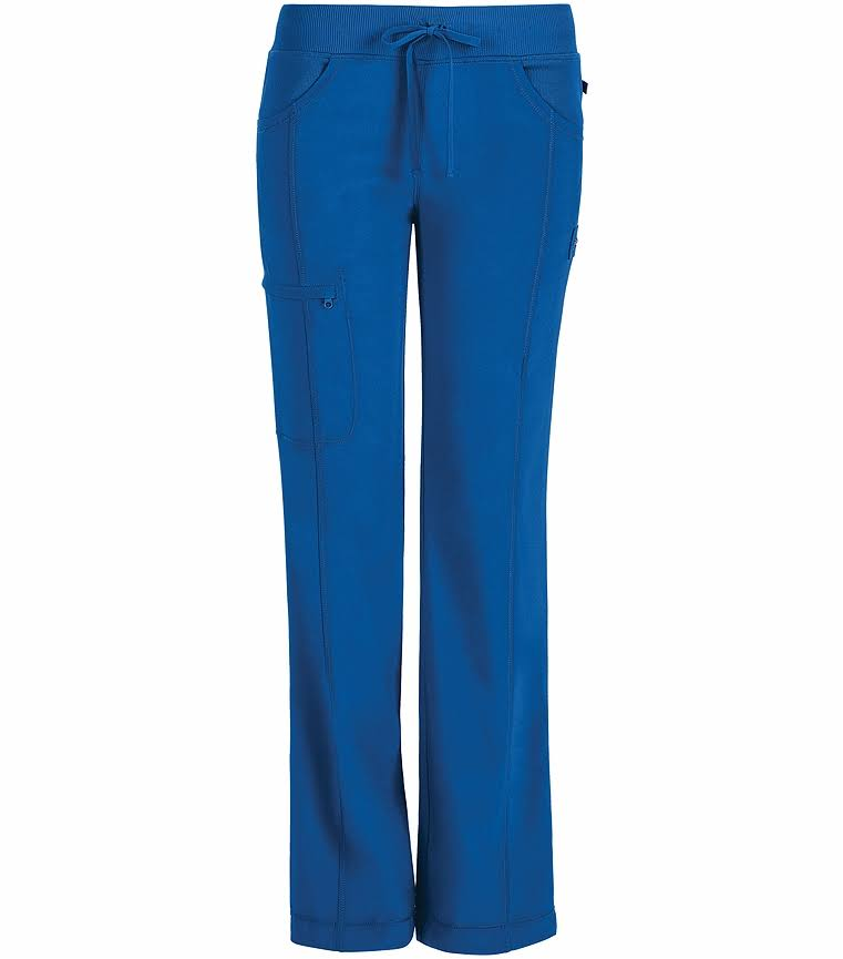 Cherokee Women's Infinity Low-Rise Straight Leg Drawstring Pants - Royal, Large