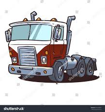 Old Cabover Truck Semi Truck Isolated Stock Vector (Royalty Free ...