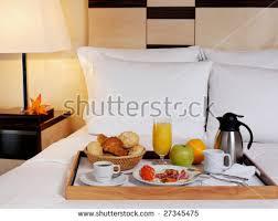 Tray Breakfast Bed Hotel Room Stock Shutterstock