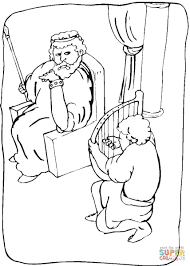 Click The King Saul Coloring Pages To View Printable Version Or Color It Online Compatible With IPad And Android Tablets