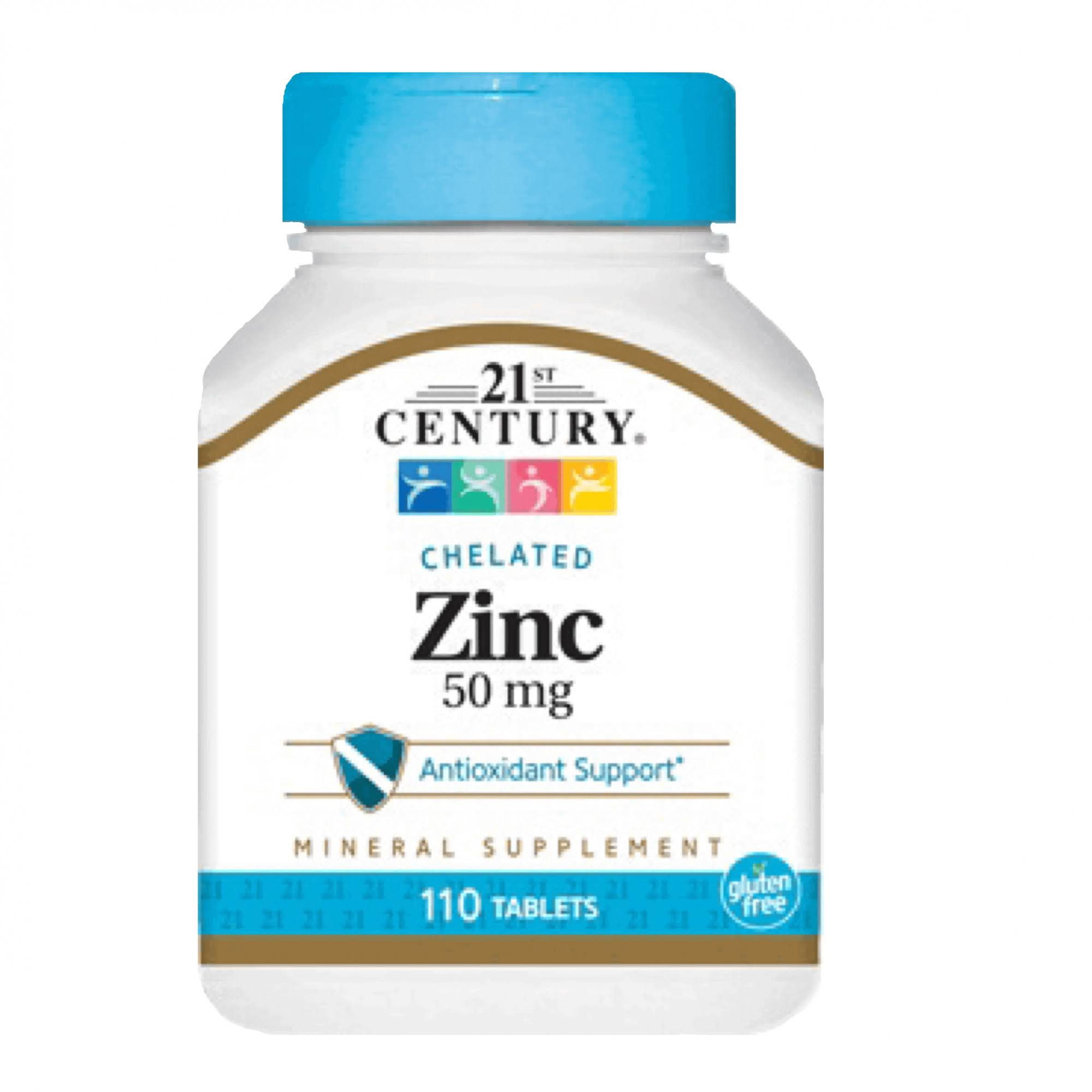 21st Century Chelated Zinc Supplement - 50mg, 110tabs