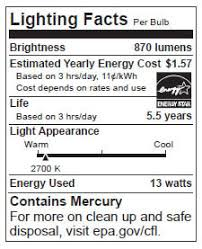 lighting facts label conservation snohomish county pud