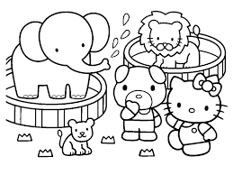 Coloring Pictures Of Hello Kitty And Her Friends Printable Valentine Pages Free Full Size