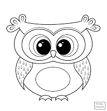Coloring Pages Birds Owls Big Eyed Owl