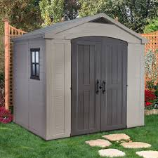 Keter Manor Plastic Shed 4 X 6 by Keter 213039 Factor 8 Ft X 6 Ft Storage Shed Actual Size 8 416