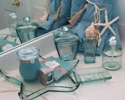 recycled glass bath accessories sea glass ocean bathroom sea