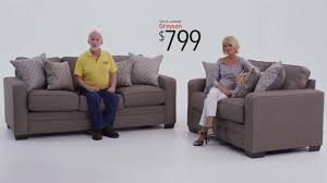 Bobs Furniture Leather Sofa And Loveseat by Grayson Love Seat And Sofa Set Bob U0027s Discount Furniture Youtube