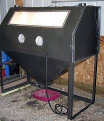 Diy Sandblast Cabinet Vacuum by Homemade Sandblaster Cabinet Plans Crazy Homemade