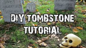 Diy Halloween Tombstones Cardboard easy diy foam tombstone tutorial youtube