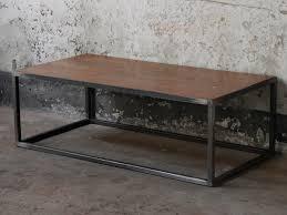 Wood Metal Industrial Coffee Table Scaramanga
