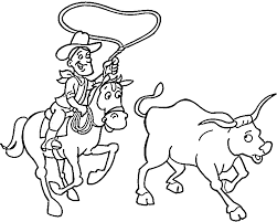 Cowboy Coloring Pages 8