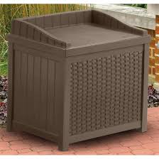 suncast resin wicker 22 gallon deck box 202213 patio storage