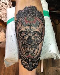 Cool Mexican Sugar Skull Tattoo Design