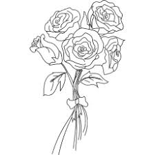 The Bunch Of Roses Heart Shaped Rose Coloring Page
