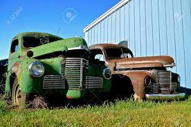 MANDAN, NORTH DAKOTA, July 1, 2016: The Old International Pickup ...