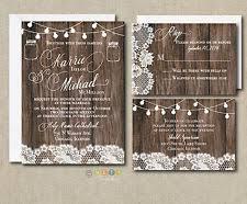 Wedding Invitation Set Rustic Lace Lights With Envelopes 100 Sets