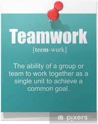 poster teamwork definition