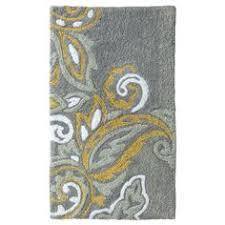 floral bath rug yellow threshold bath rugs blue yellow grey