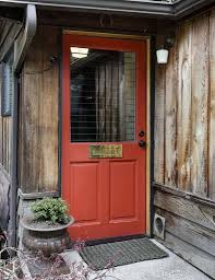 Rustic Barn Bathroom Lights by Rustic Front Door With Exterior Stone Floors In Seattle Wa