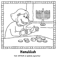 Arthur Holiday Coloring Pages
