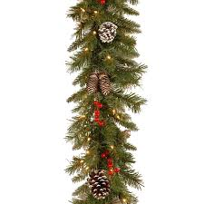 Frontgate Christmas Tree Lights Problems by Amazon Com National Tree 9 Foot By 10 Inch Frosted Berry Garland