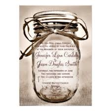 Country Mason Jar Rustic Wedding Invitations 45