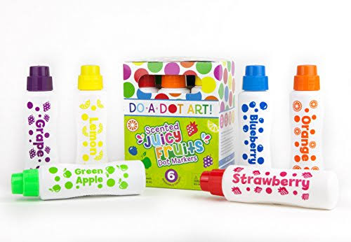 Do-A-Dot Art Juicy Fruit Scented Dot Markers (Set of 6)