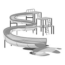 Waterslide In Pool Icon Gray Monochrome Illustration Of Vector For Web