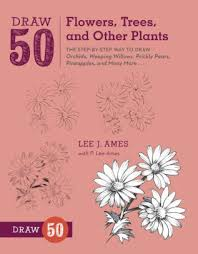 Draw 50 Flowers Trees And Other Plants The Step By