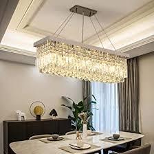 loonju led rechteckige kristall kronleuchter küche esszimmer restaurant theresien kristall kronleuchter hotel luxus kronleuchter