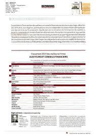 classement cabinet d audit afival dans le classement des meilleures firmes d audit et conseil