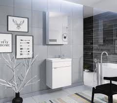 2 tlg badmöbel set waschplatz spiegelschrank weiss glanz